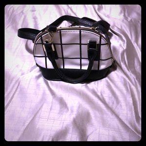 Mini black and white shoulder/handbag